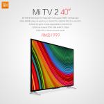 Xiaomi présente une version 40 pouces de sa Mi TV 2 sous Android