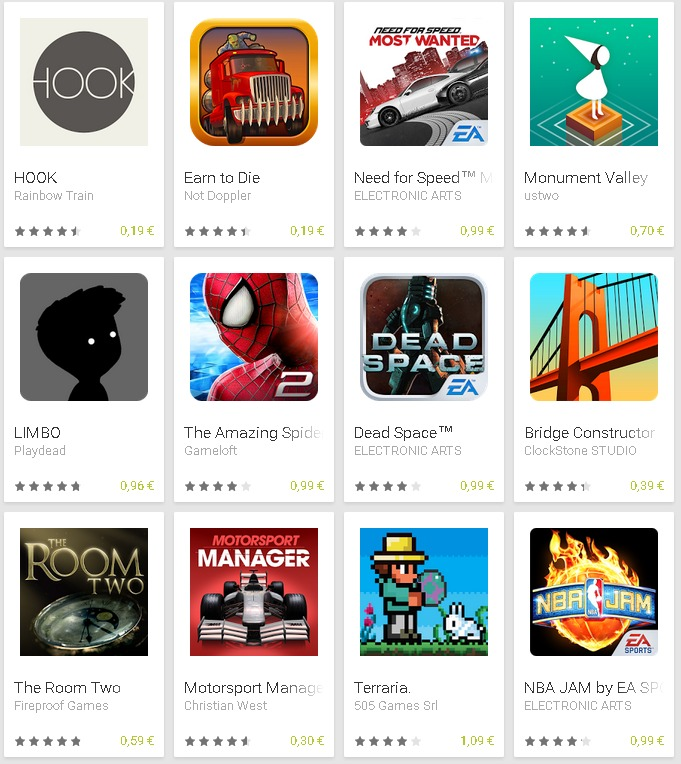 Grands jeux  petits prix – Applications Android sur GooglePlay