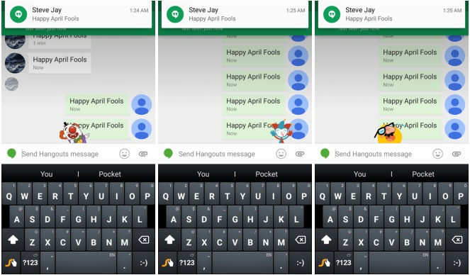 Hangouts  Easter Eggs Help You End Your April Fools Pranks On A Funny Note