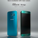 Galaxy S6 bleu topaze et Galaxy S6 edge vert émeraude en approche