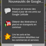 Maps l'application native Android a été mise à jour par Google