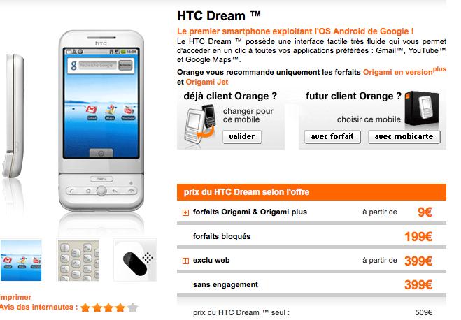 HTC Dream - Téléphone portable - Orange mobile_1248435645732