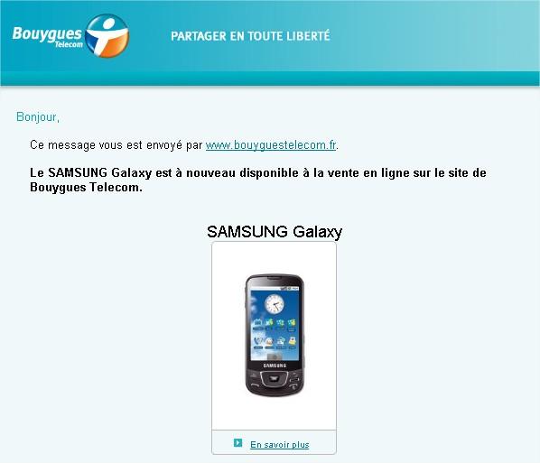 SAMSUNG Galaxy email