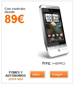 htc hero orange