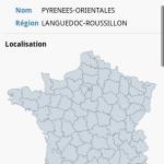 Tous les départements français avec android
