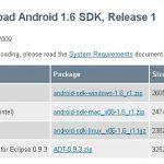 Donut – Le SDK android 1.6 est arrivé