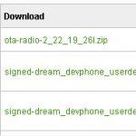 Le firmware officiel Android 1.6 Donut disponible pour les HTC Dream des développeurs