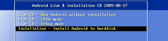 Installation (Android-x86 - Porting Android to x86 Platform)_1253346930105