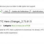 Une mise à jour pour le HTC Hero de Orange ?