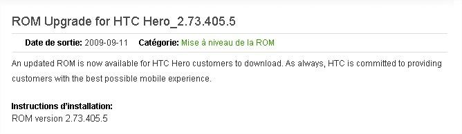 ROM Upgrade for HTC Hero_2.73.405.5