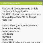 L'application Eklaireur gratuite sur Android Market !