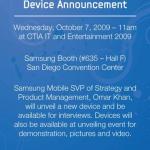 Samsung va-t-il révéler un nouveau terminal Android au CTIA ?