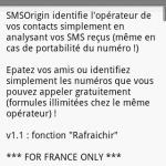SMSOrigin – Identifier l'opérateur des personnes qui vous envoient des SMS