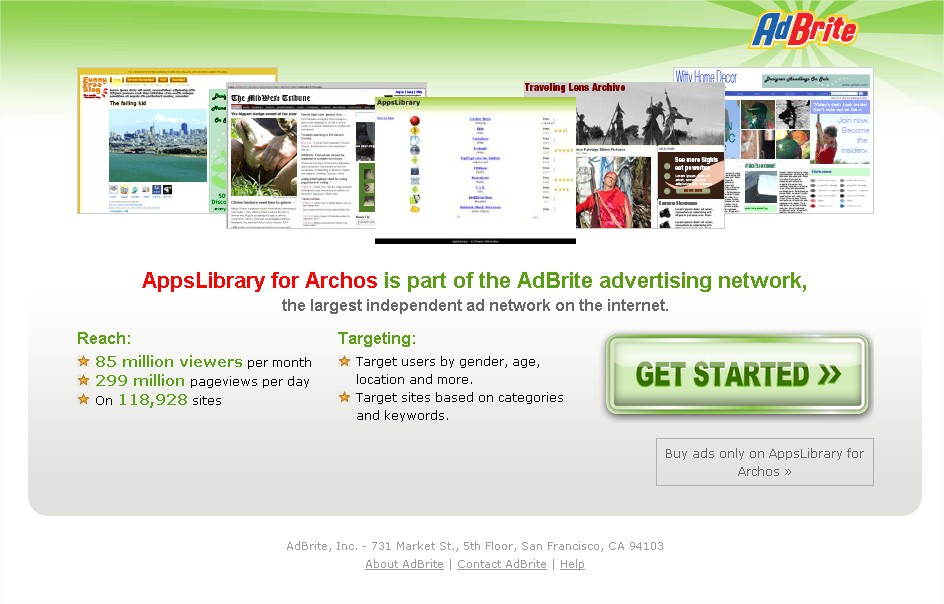 AdBrite - Advertise on AppsLibrary for Archos - Mozilla Firefox