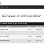 Les sources de HTC HERO disponibles