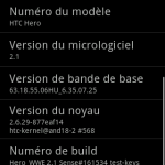 Test de la rom non officielle d'Android 2.1 HTC Sense pour Htc Hero