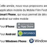 Mobile Film Festival – Votez depuis l'application Mobile
