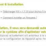 Archos 5 Internet Tablet – Mise à jour du firmware en 1.7.33 (DONUT)