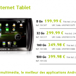 Archos 5 Internet Tablet – L'Archos 5 IT 8 gigas disponible sur le store