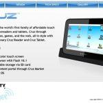 Cruz – La tablette tactile avec Android 2.1 et le support full Flash 10.1
