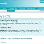 Nexus One – Apparition sur la boutique en ligne Bouygues Telecom