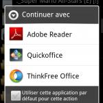 Adobe Reader – Acrobat Reader disponible sur Android Market
