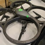 Le Parrot AR.Drone piloté par un Nexus One