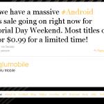 Glu Mobile baisse le prix de ses jeux pour le weekend