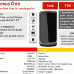 Nexus One – Le 18 mai chez SFR d'après un document interne
