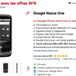 Nexus One – Le Google Phone en stock chez SFR