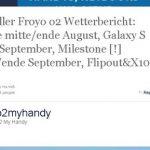 Motorola Milestone – Mise à jour Android 2.2 en septembre avec l'opérateur O2 Allemagne