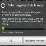 HTC Desire – La mise à jour Android 2.2 Froyo [Suite]