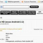 Le HTC Desire HD fait son entrée sur le site de la FNAC