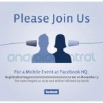 Mobile Event at Facebook HQ le 3 novembre