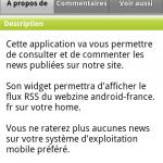 """Android Market – Ajout de l'onglet """"Voir aussi"""""""