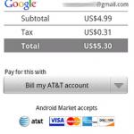 Android Market – Paiement via opérateur fonctionel aux USA
