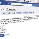 HTC pourrait présenter un terminal Facebook au MWC 2011