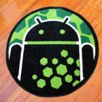 Bugdroid – Un tapis à l'éffigie de la mascotte Android