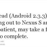Nexus One  et S – Mise à jour Android 2.3.3 en cours