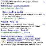 La prévisualisation de site disponible sur Google Mobile