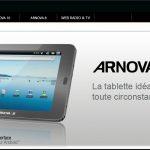 Arnova – Les tablettes d'entrée de gamme Archos ont un site