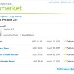 Android Market – Le paiement in-app c'est pour semaine prochaine