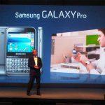 Samsung Galaxy Pro – Un clavier physique à la Blackberry