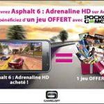 Asphalt 6 – Gameloft propose un jeu acheté un jeu offert