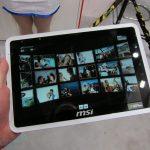 MSI WindPad 100A – MSI présente sa tablette 10 pouces au CeBIT 2011