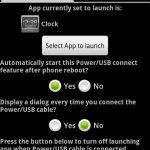 Plug In Launcher  – Sélectionner l'application à lancer quand vous branchez le casque ou l'USB