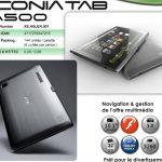 ACER ICONIA TAB A500 maintenant disponible sur le marché français