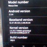 Nexus One – Mise à jour Android 2.3.4 disponible mais pas de Gtalk vidéo