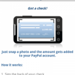 Déposer un chèque sur votre compte PayPal avec votre Android Phone grâce à Mobile Check Capture
