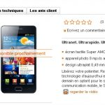 Samsung Galaxy S2 – Apparition sur le site d'Orange Suisse